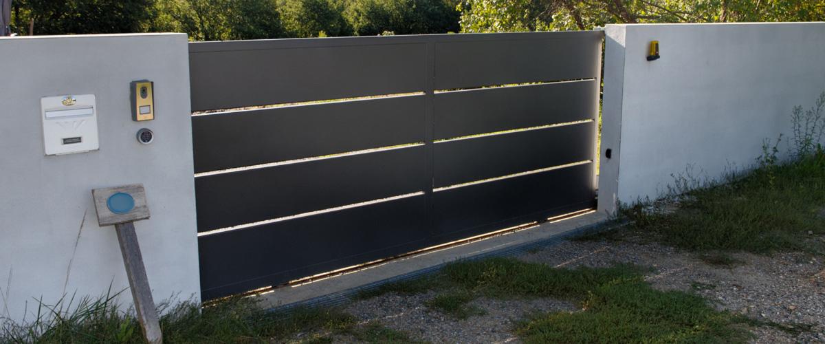 Duffaut portail fermeture cloture automatisme porte for Portail jardin metal